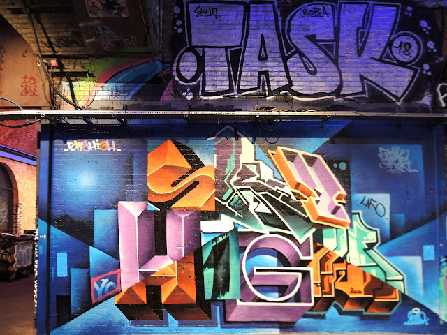 Londen: Graffiti in de tunnel van Leake Street