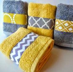 toalhas com detalhes de tecido