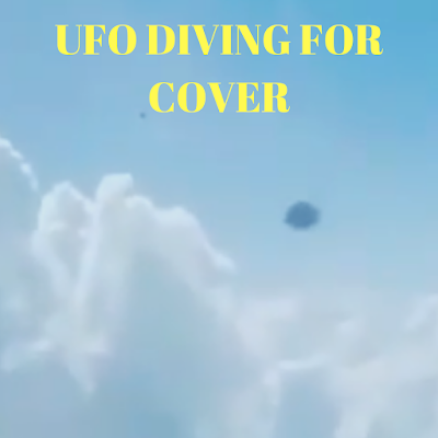 UFO diving through the clouds to get away from the Jet.
