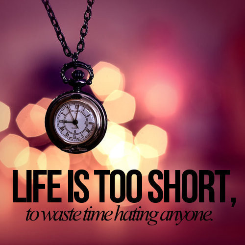 Life Is Too Short Quotes And Sayings: Life Quotes And Sayings: Life Is Too Short Dont Hate Anyone :