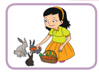 Setiap hari Dayu menyiapkan makanan dan minuman untuk kelinci www.simplenews.me