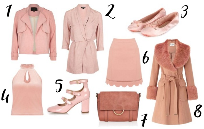 Pink/Blush Fashion on the UK High Street for Autumn/Winter 2016