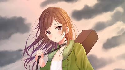 HD Anime Girl guitar wallpaper