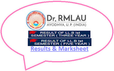 RMLAU LLB 1st Semester Result 2021