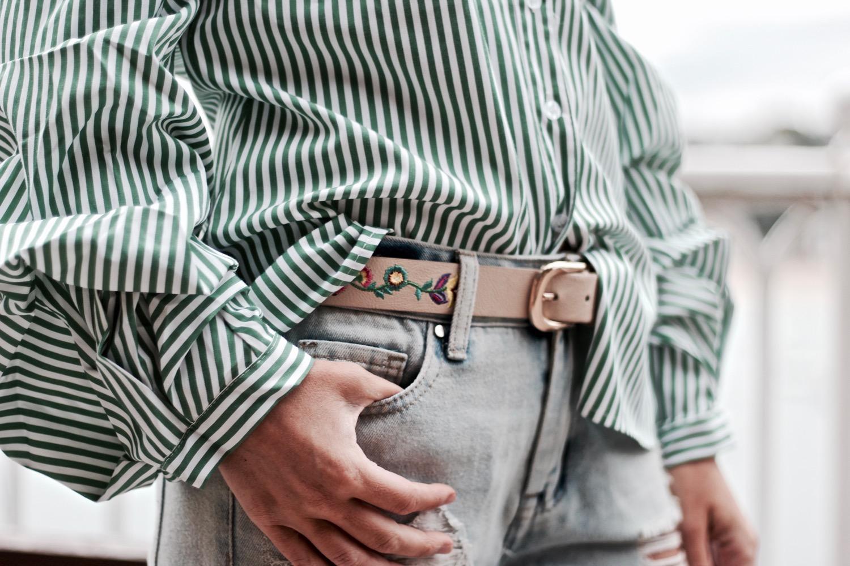 cinturón bordado