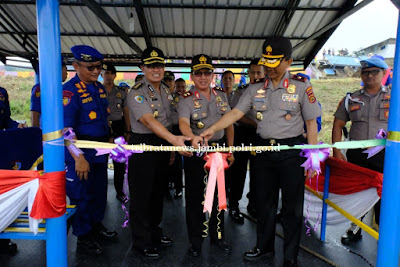 Kapolda Resmikan Kapal Patroli Baru Dit Polair Polda Jambi