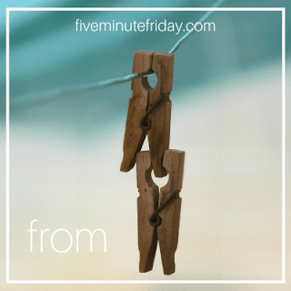 Five Minute Friday From clothespins