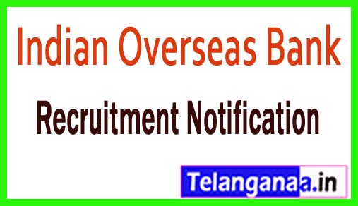 Indian Overseas Bank IOB Recruitment
