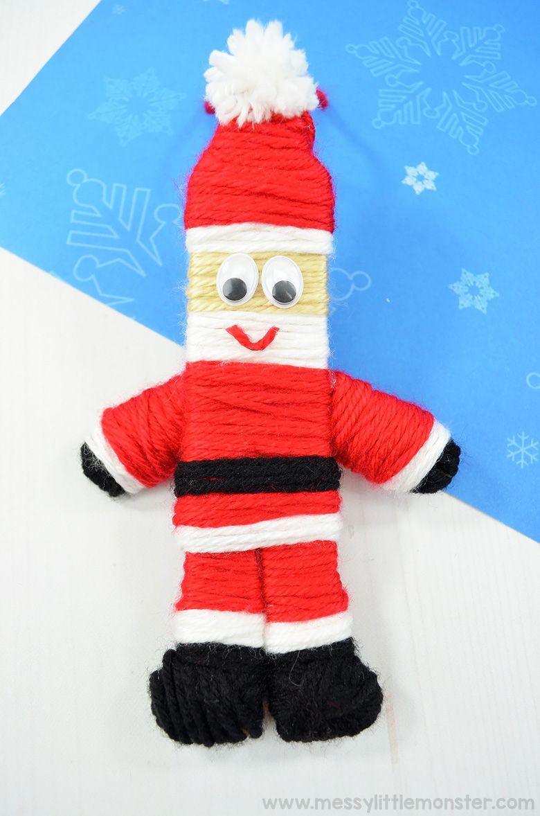 Santa yarn ornament craft