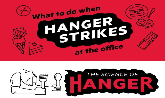 What to Do When Hanger Strikes at the Office #infographic