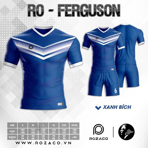 Áo Không Logo Rozaco RO-FERGUSON Màu Xanh Bích