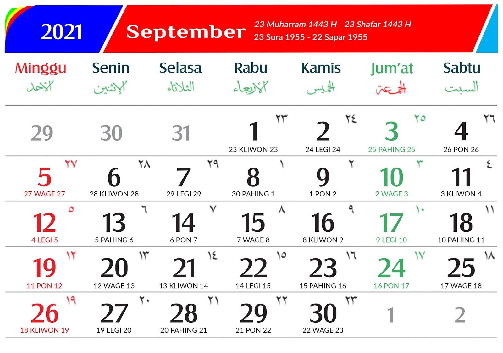 Download Kalender 2021 Gratis - Aflah Sentosa