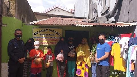 Awal 2021 Rumah Koran dan Brimob Polda Sulsel Kembali Sedekah Sayur ke Panti Asuhan Jabal Nur