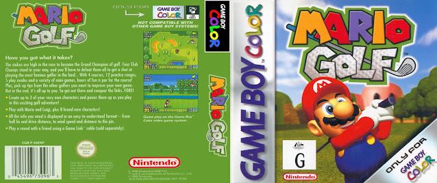 game boy color mario golf cover