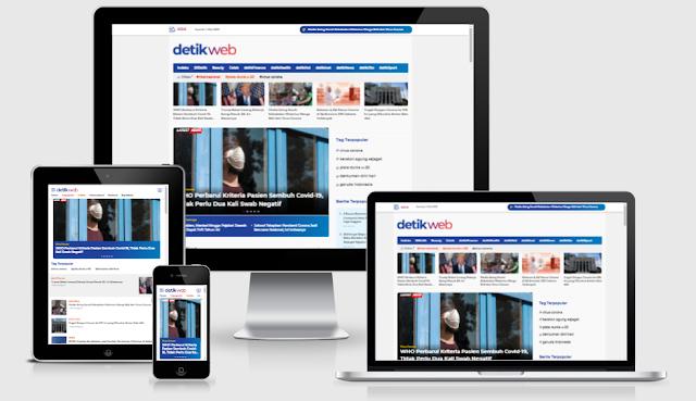 DetikWeb Premium Blogger Template Free Download