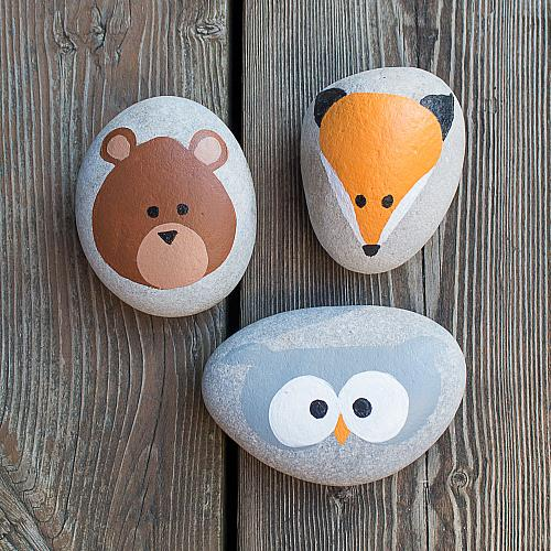 easy tutorials for cute painted rocks