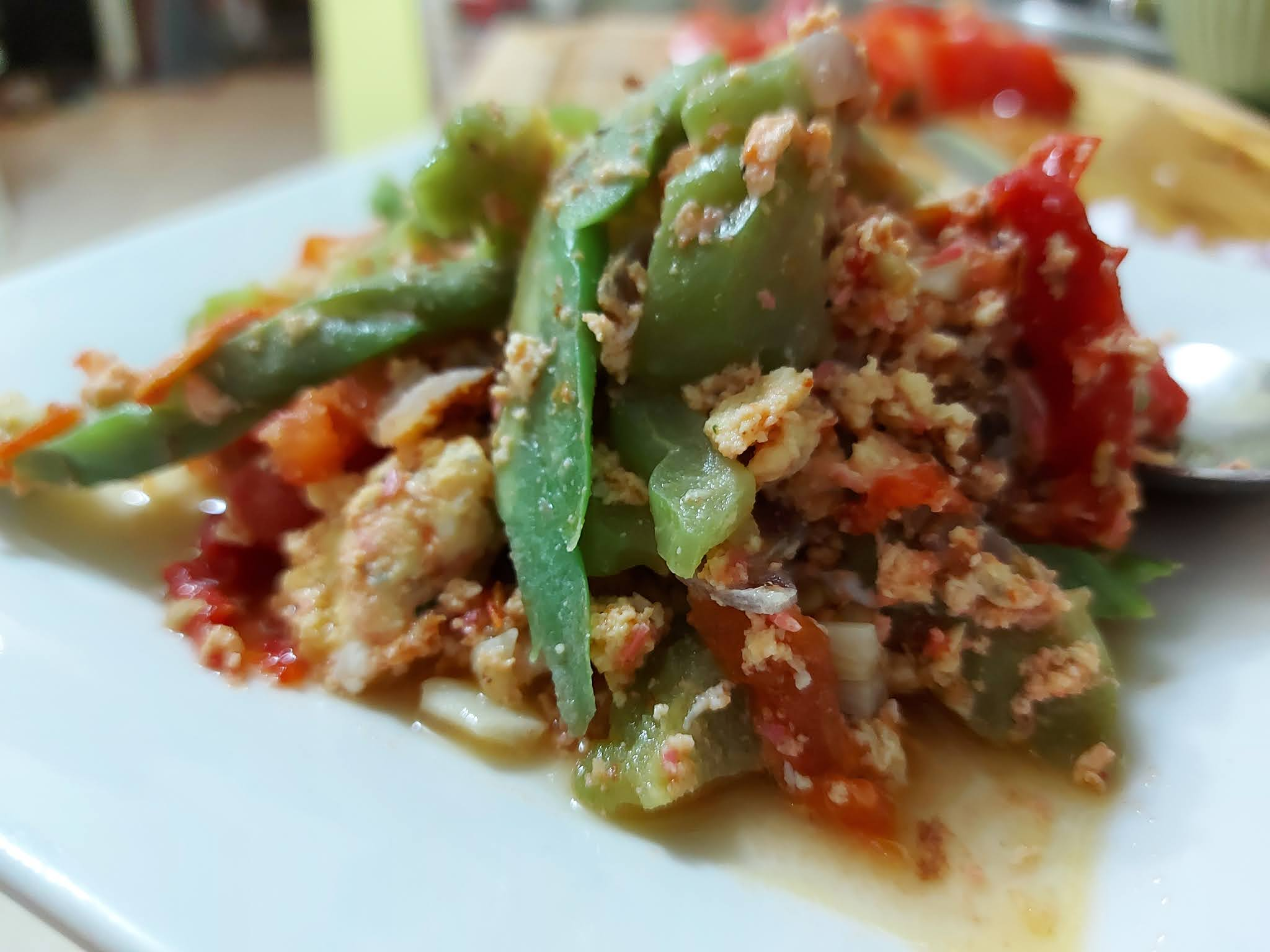 Ginisang Ampalaya (Bitter Melon) W/Eggs And Shrimp Fry (UJAP) Recipe
