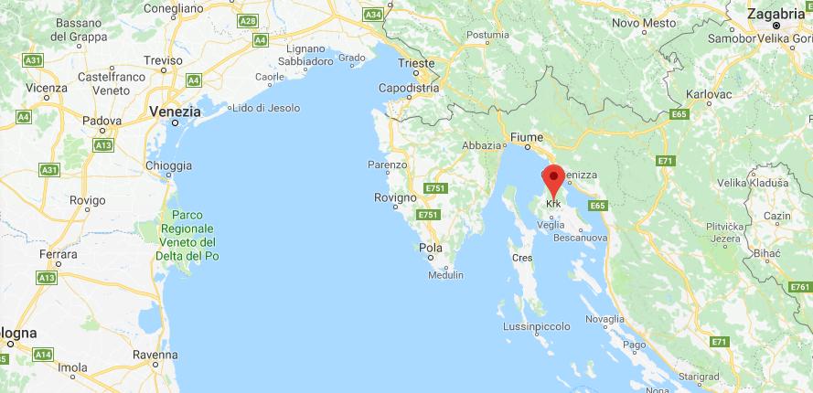 Cartina Spiagge Veneto.Croazia Mappa Spiagge
