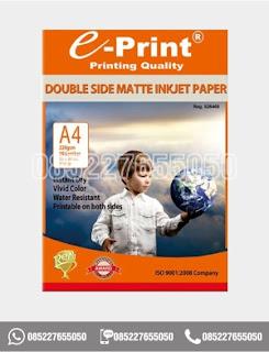 Kertas Foto Double Side Matte Inkjet Paper Eprint A4 220gsm, 0852-2765-5050