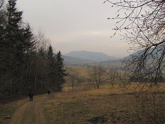 Ostatnie widoki przed wejściem do lasu.