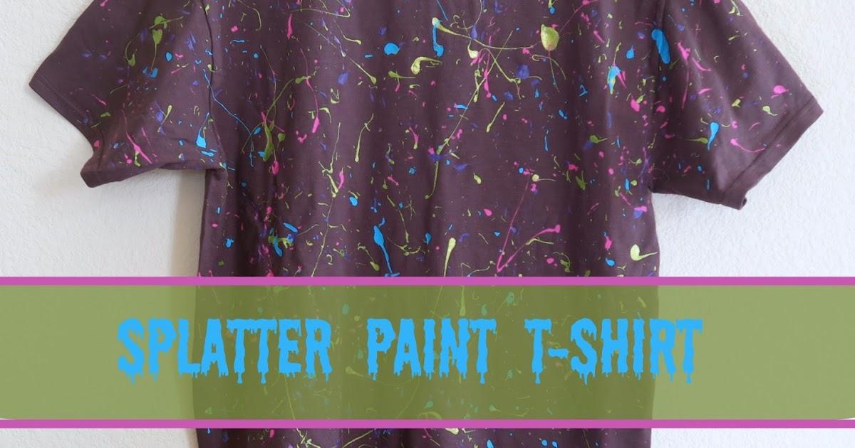 Cindy Derosier My Creative Life Splatter Paint T Shirt