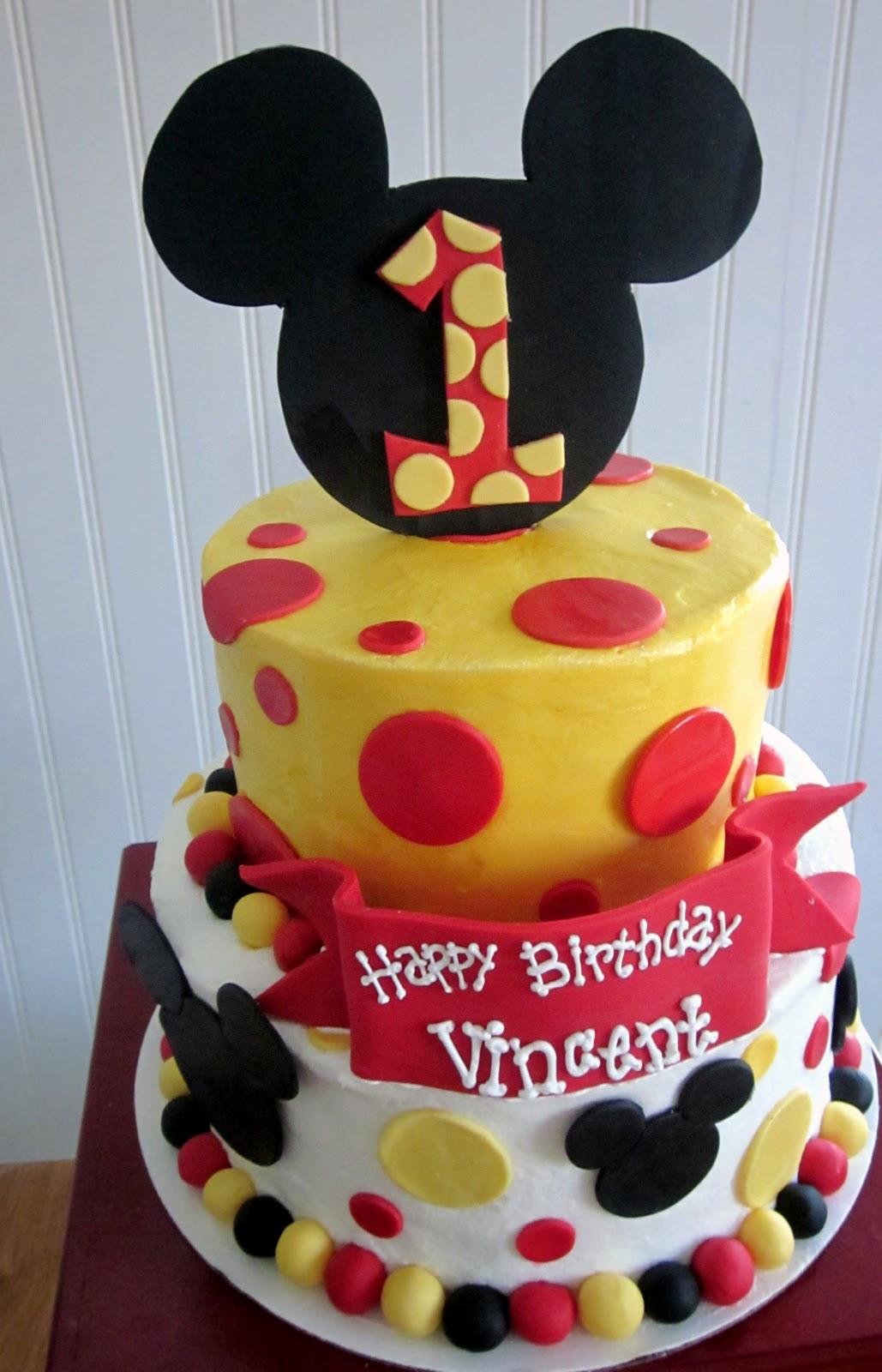 Darlin' Designs: Mickey Mouse First Birthday Cake and ...