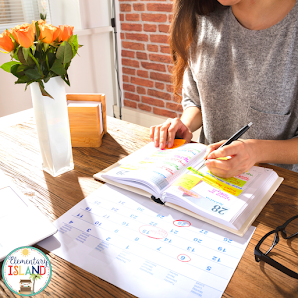 Use a schedule to keep track of the things you have to do and giving yourself a visual idea of what you have completed and what you still need to do