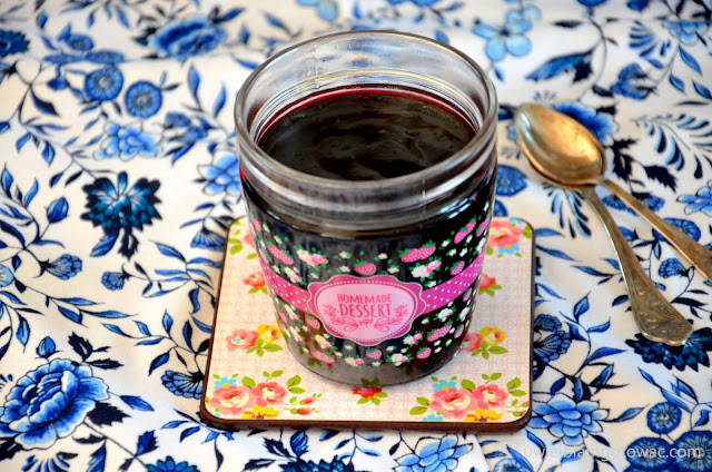 Domowy kisiel jagodowy z kompotu