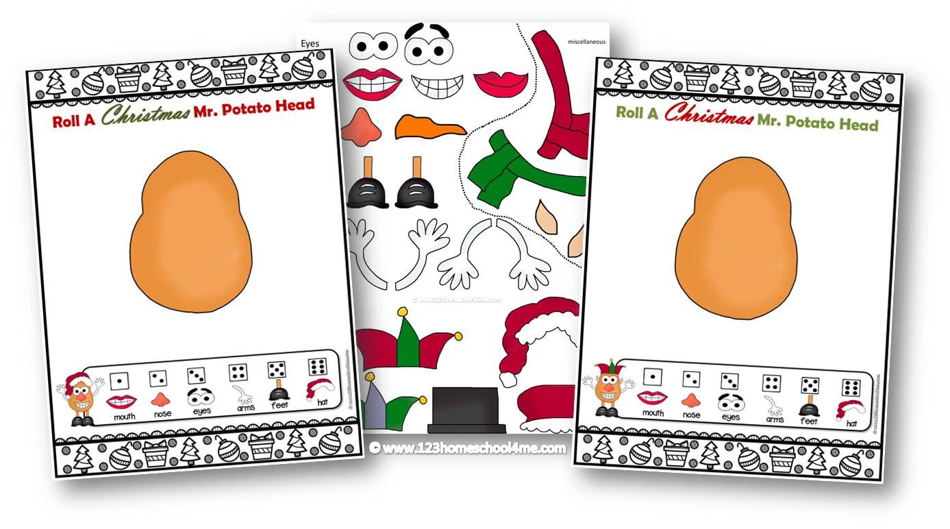 Free Roll A Christmas Mr Potato Head