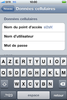 Configuration APN SFR iPhone