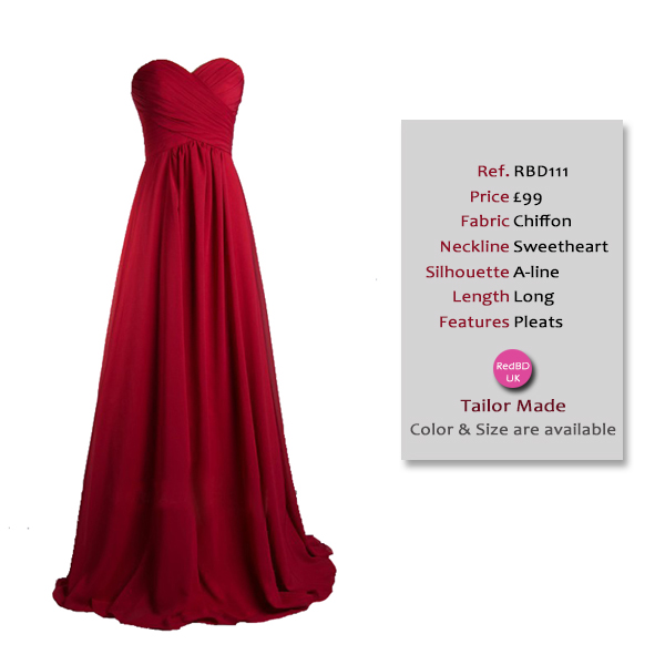 red chiffon long maternity bridesmaid dress