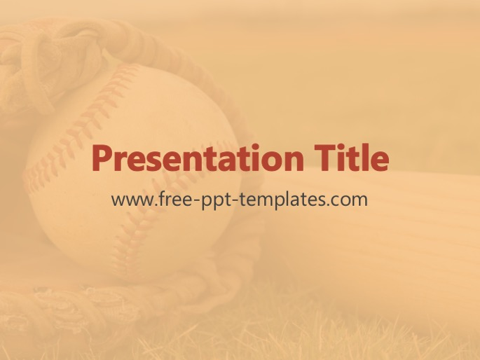 baseball ppt template, Powerpoint templates