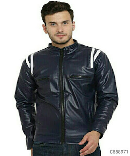 Faux Leather Solid Jacket