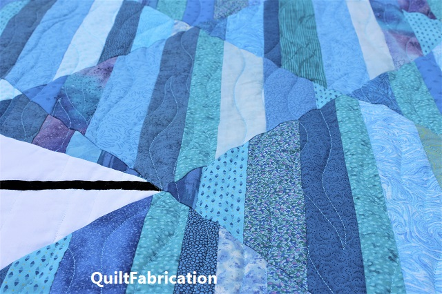 Seafarer water quilting by QuiltFabrication