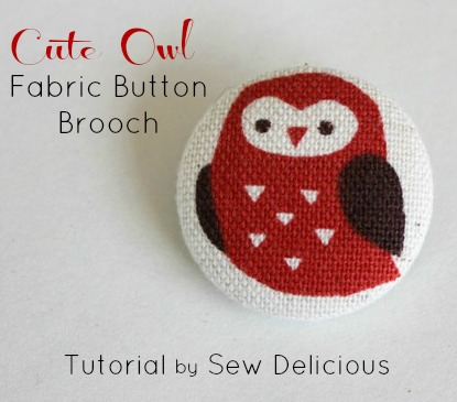How To Make A Fabric On Brooch Tutorial