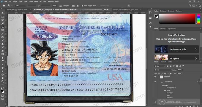 USA PASSPORT EDITABLE PSD TEMPALTE 03