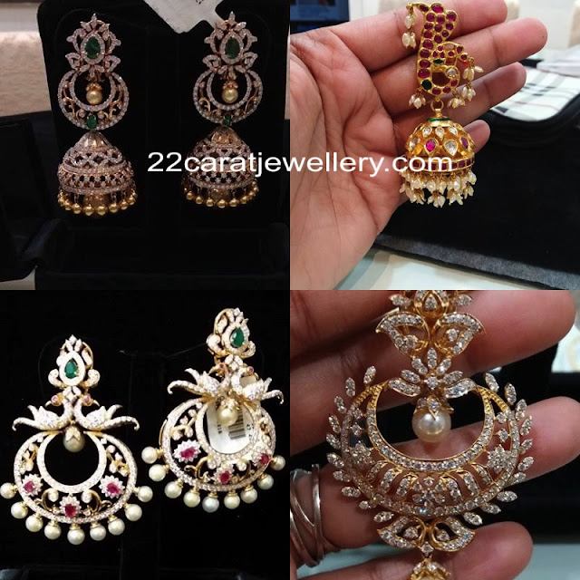 Diamond Jhumkas Chandbalis by Vajra Jewels