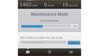 Maintenance Mode Blogger Template Download