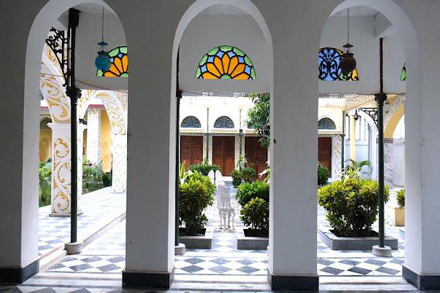 Central Courtyard Bari Kothi Murshidabad Heritage Hotel in India