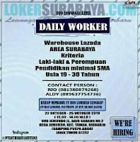 Info Lowongan Kerja Surabaya di Daily Worker Oktober 2019 Terbaru