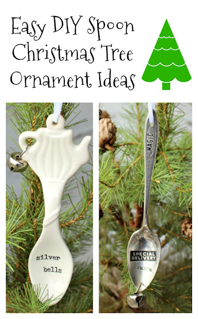 Spoon Christmas Tree Ornament Ideas #spoonornaments #timholtzremnantrubs #Christmasornaments #DIYornaments