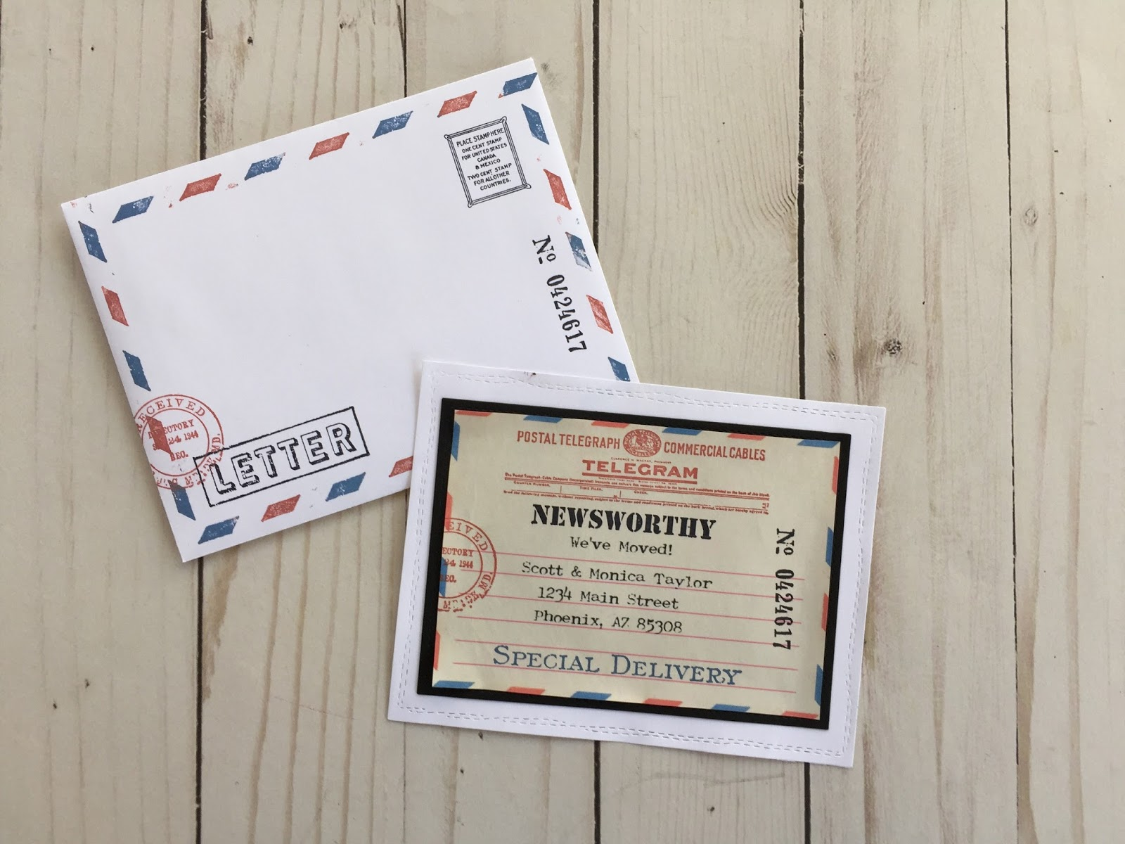 I Also Created Matching Envelopes This Is Such A Vesatile Theme It Could Be Used For Invitation Birth Announcements Or An Newsworthy Information You
