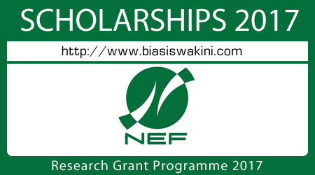 Research Grant Programme 2017