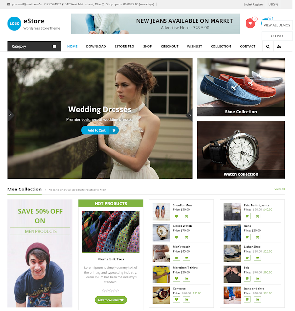 estore | Best Free Ecommerce Themes For Wordpress Online Store