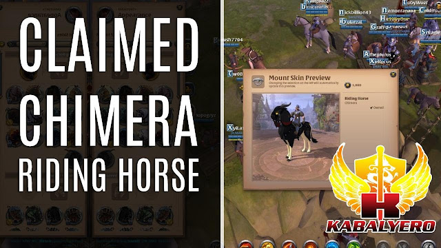 Got My Free Chimera Riding Horse In Albion Online
