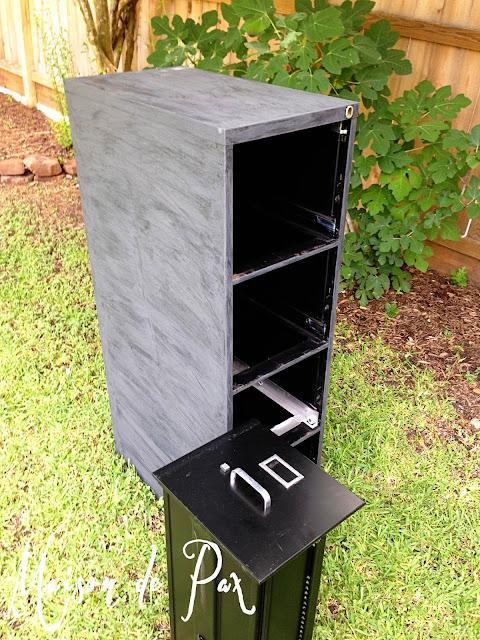 Painted file cabinet- Maison de Pax