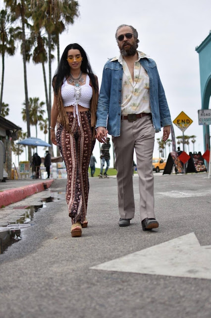 Paris Dylan – With Paul Louis Harrell photoshoot candids in Venice