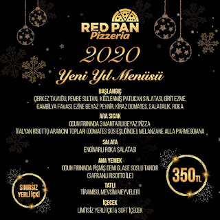 Red Pan Pizzeria Bodrum Yılbaşı Programı 2020 Menüsü