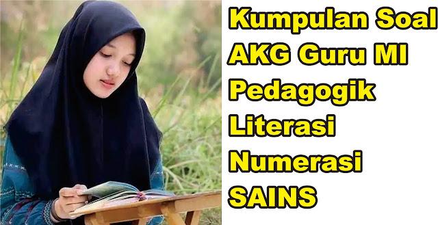 Soal AKG Madrasah Guru MI (Pedagogok, Literasi, Numerasi dan Sains)