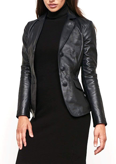 Real Leather Blazers Jackets For Women